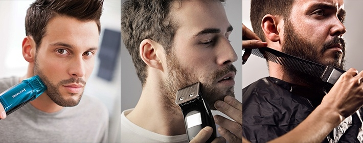 мужчины бреют бороду