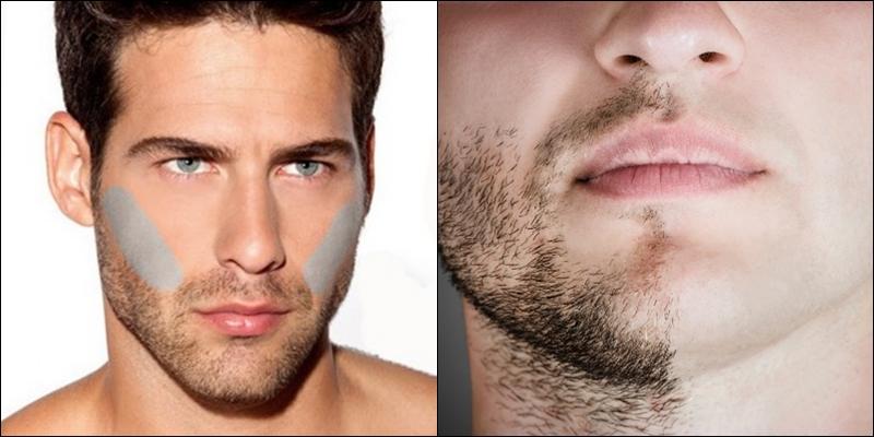 мужчина с бородой и без